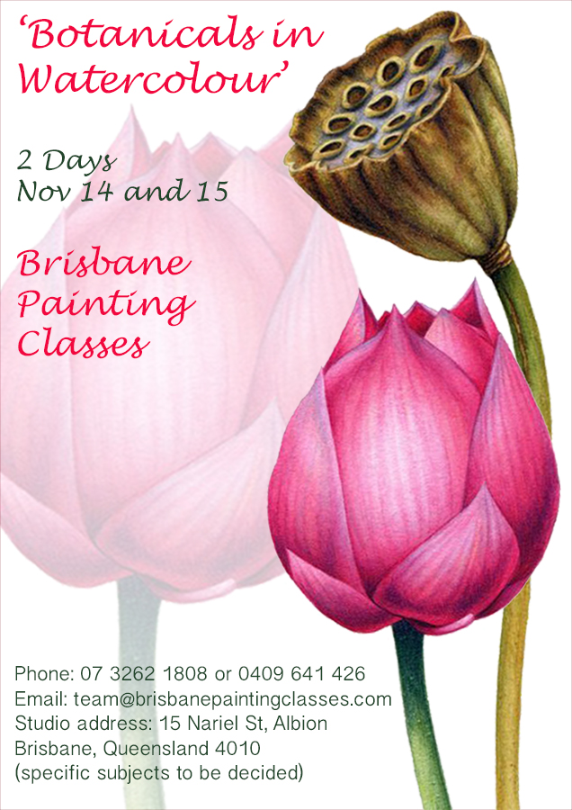 Heidi-Willis_Brisbane_Botanical Painting Workshop_watercolour