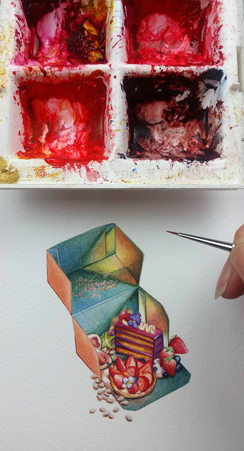 Heidi Willis_Illustration_cake_painting