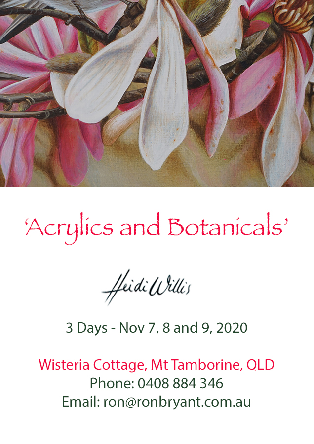 Heidi-Willis_Queensland_Acrylics_Botanical Painting Workshop_watercolour_2020