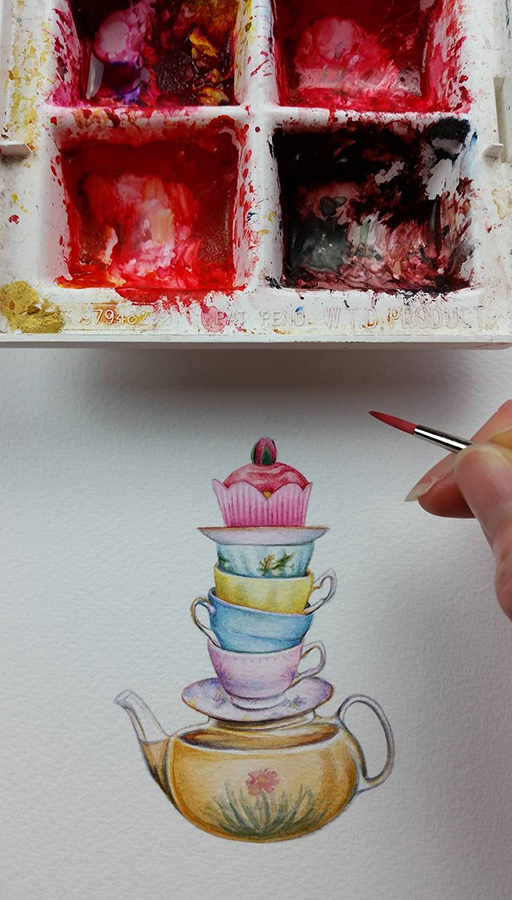 Heidi Willis_Watercolour_Cake_Illustration
