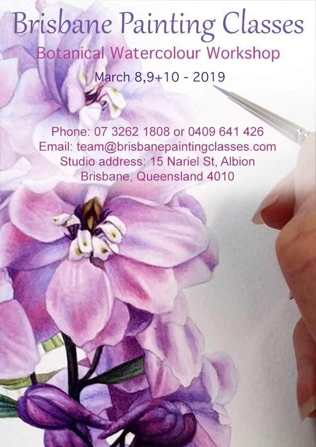 heidi willis_botanical_watercolour_art class_workshop_painting_brisbane